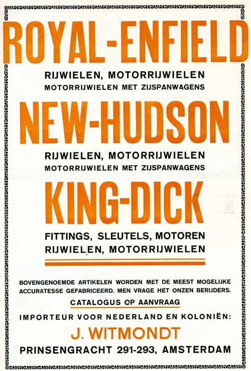 royal enfield new hudson 1915 witmondt