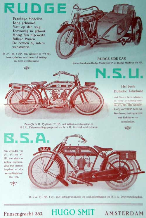 rudge nsu bsa 1915 hugo smit