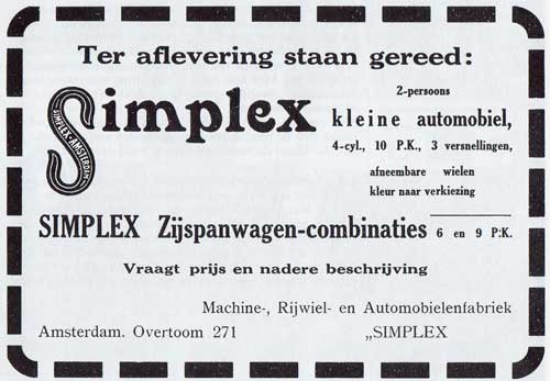 Simplex-1921-advertentie