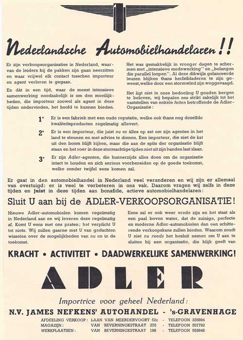 Adler-1940-James-Nefkens