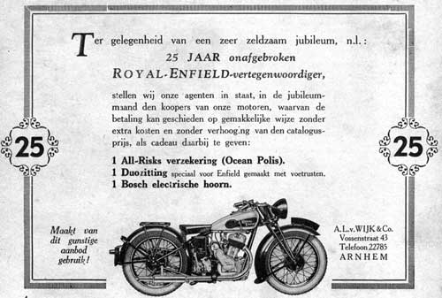 Royal Enfield 1934 wijk