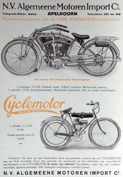iver johnson cyclemotor evans 1916 ami