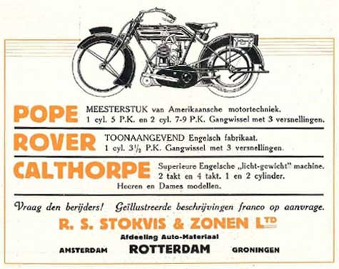 pope rover calthorpe 1919 stokvis
