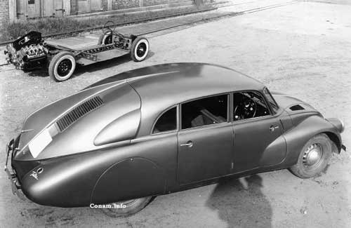 tatra T87 and chassis 1937 englebert