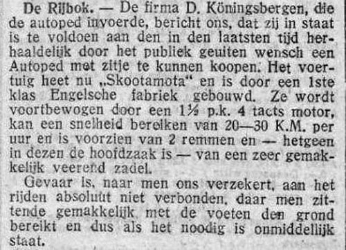 Autoped 19200109 koningsberger de tijd
