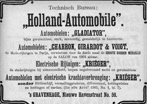 Charron 19050602 holland automobile