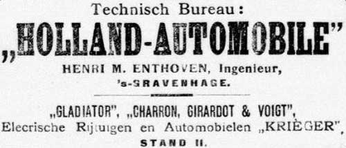 Charron 19060303 holland auomobile