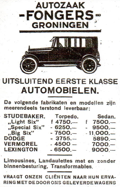 fongers 1922 vermorel lexington autoleven